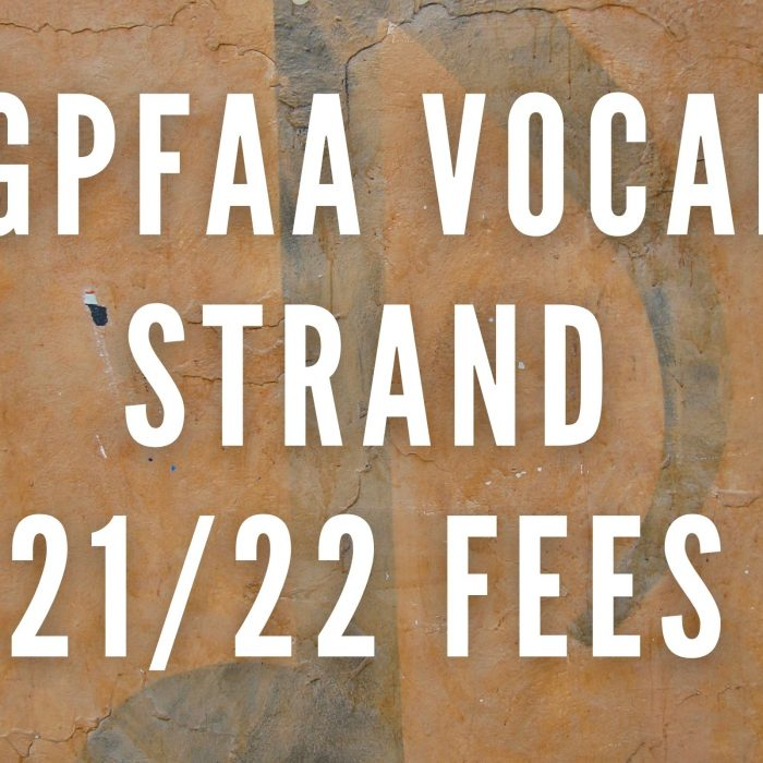 2021/2022 Vocal Music Strand Fees – Payment Plan Available